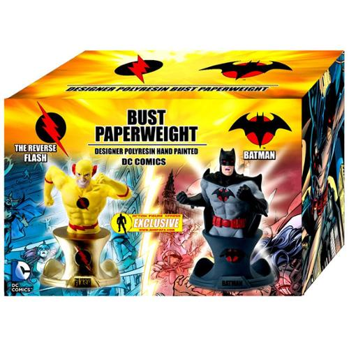 DC Flashpoint Batman and Reverse Flash Busts Action Figure