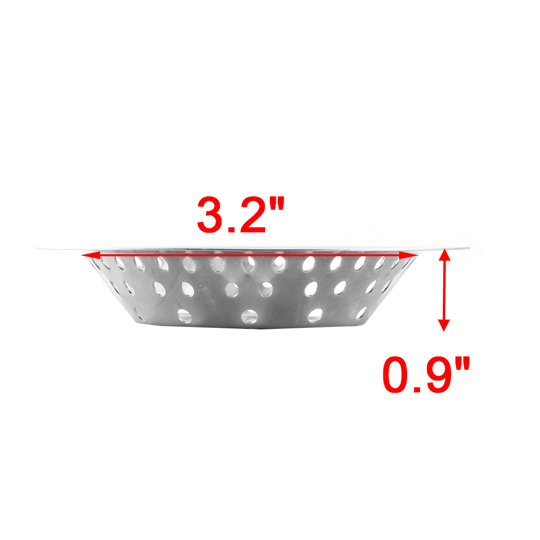 Kitchen Bathroom Metal Sink Basin Garbage Strainer Stopper 4.1 Inch Dia 3pcs - image 2 of 3