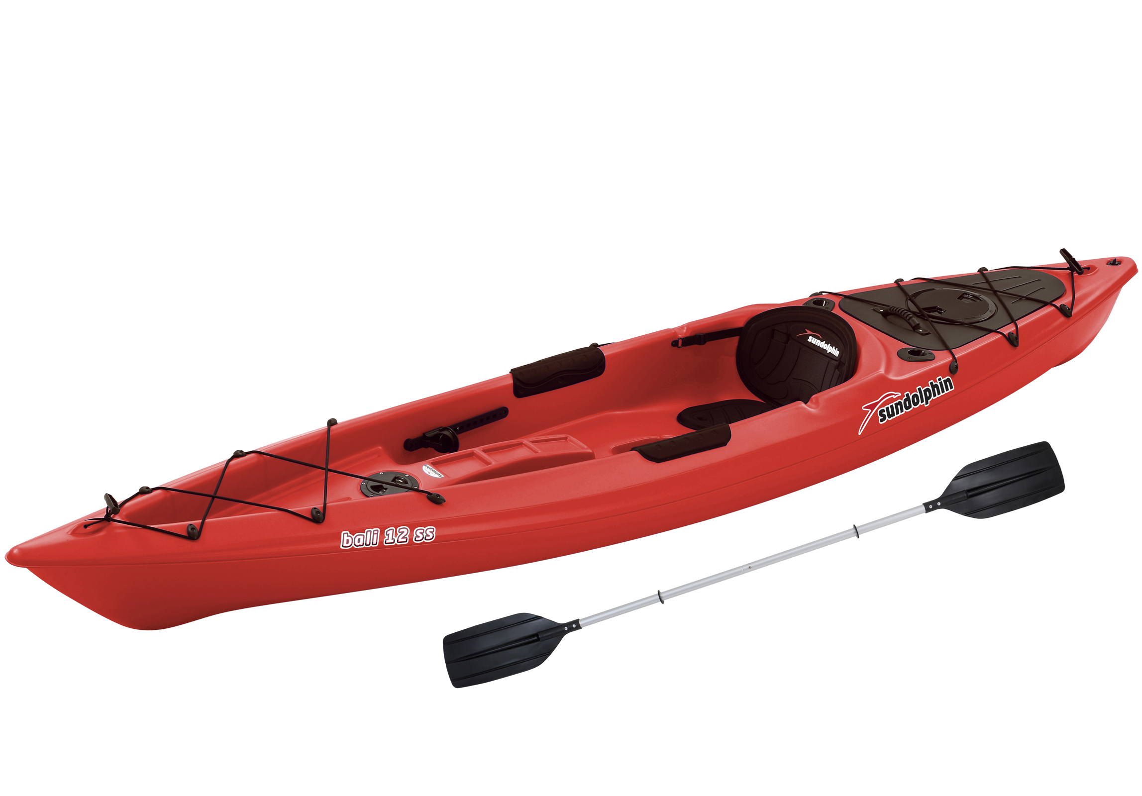 Sun Dolphin Bali Sit-On 12' Kayak, Paddle Included by KL Outdoor