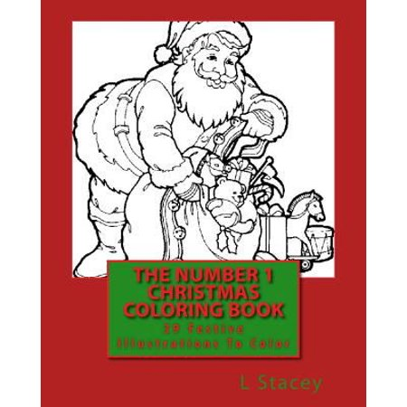 The Number 1 Christmas Coloring Book 39 Festive Illustrations To Color