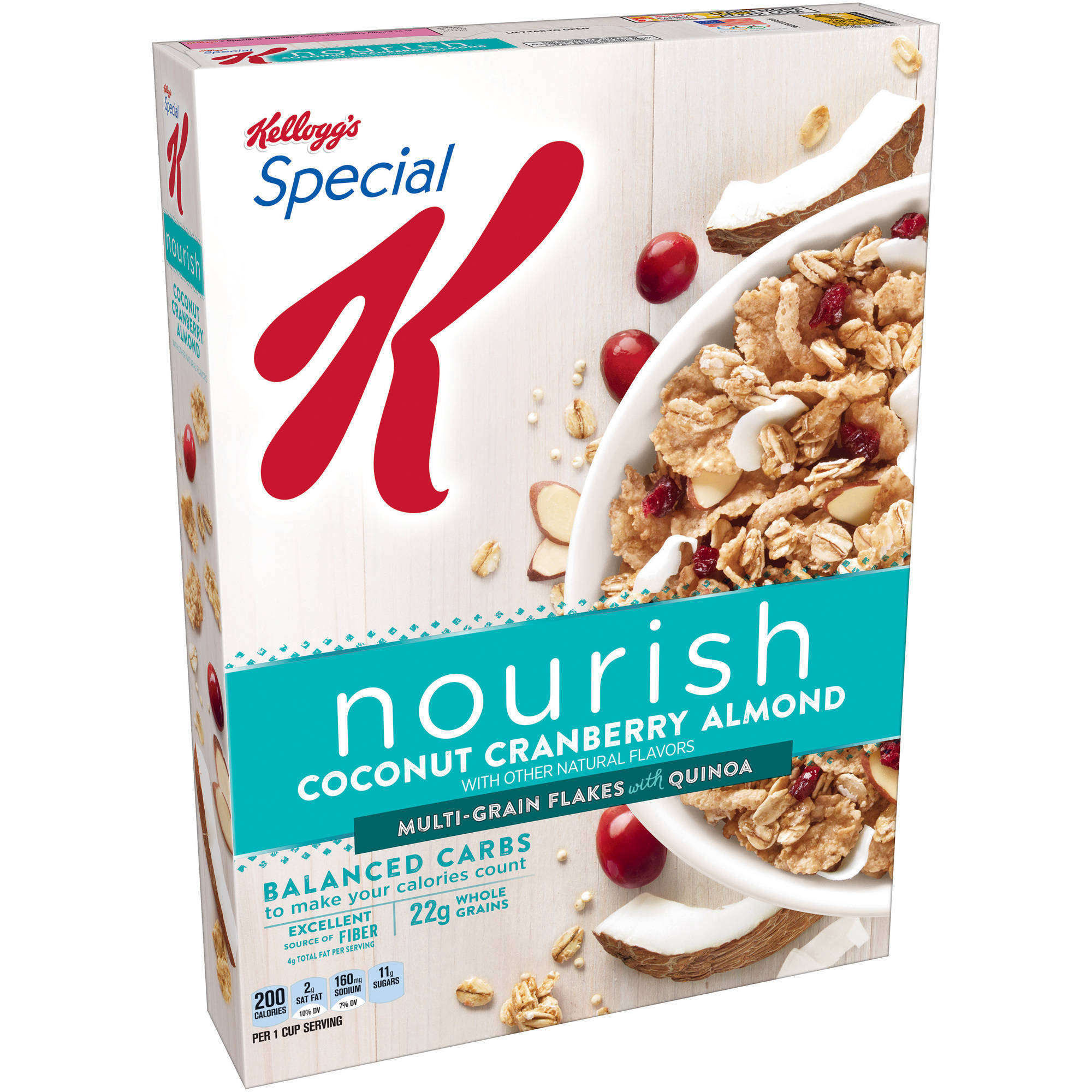 Kellogg's Special K Nourish Coconut Cranberry Almond Cereal, 14 oz