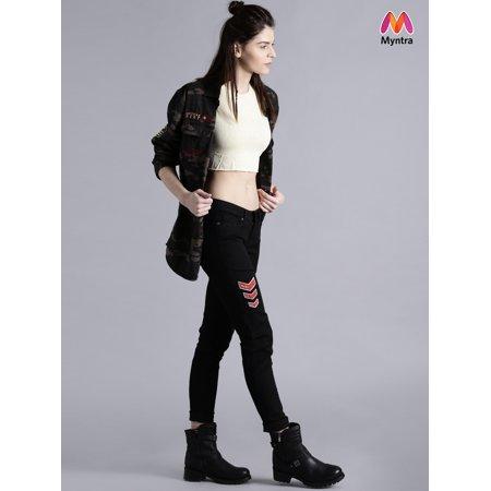 Kook N Keech Women Black Mid Rise Clean Look Jeans - image 1 de 1
