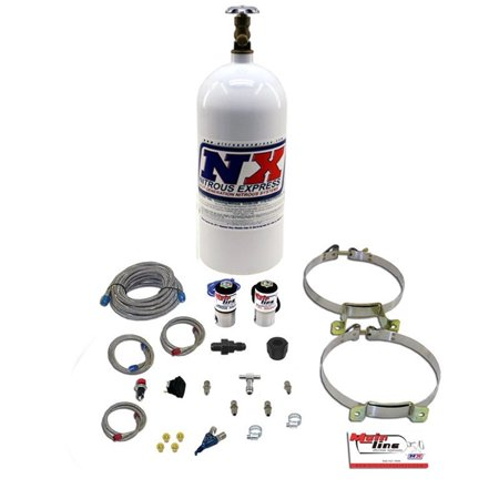- Nitrous Express ML2000 MainLine EFI Nitrous System; 50-150 HP; w/10 lb Bottle; Single Nozzle;