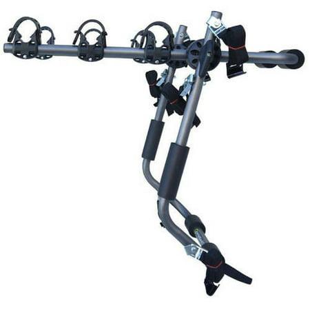 Sparehand Trunk Mounted 3-Bike Car Rack for All Frame Types Stoneman Sports, VR-648, Grey