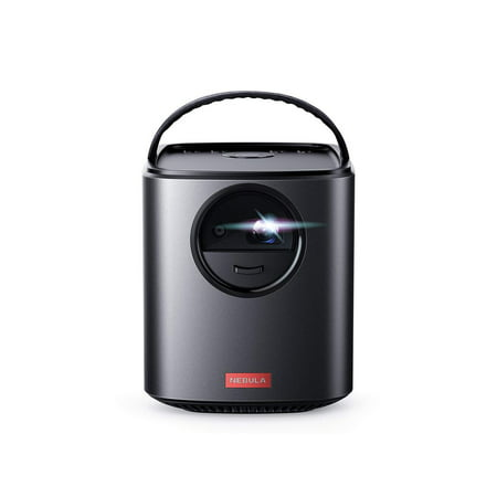 Nebula, by Anker, Mars II 300 ANSI lm Portable Projector with 720p DLP Picture, 10W Speakers, Android 7.1, 1-Second Autofocus, 30-150'' Screen, 3-Hour Playtime, Broad Connectivity, and Screen