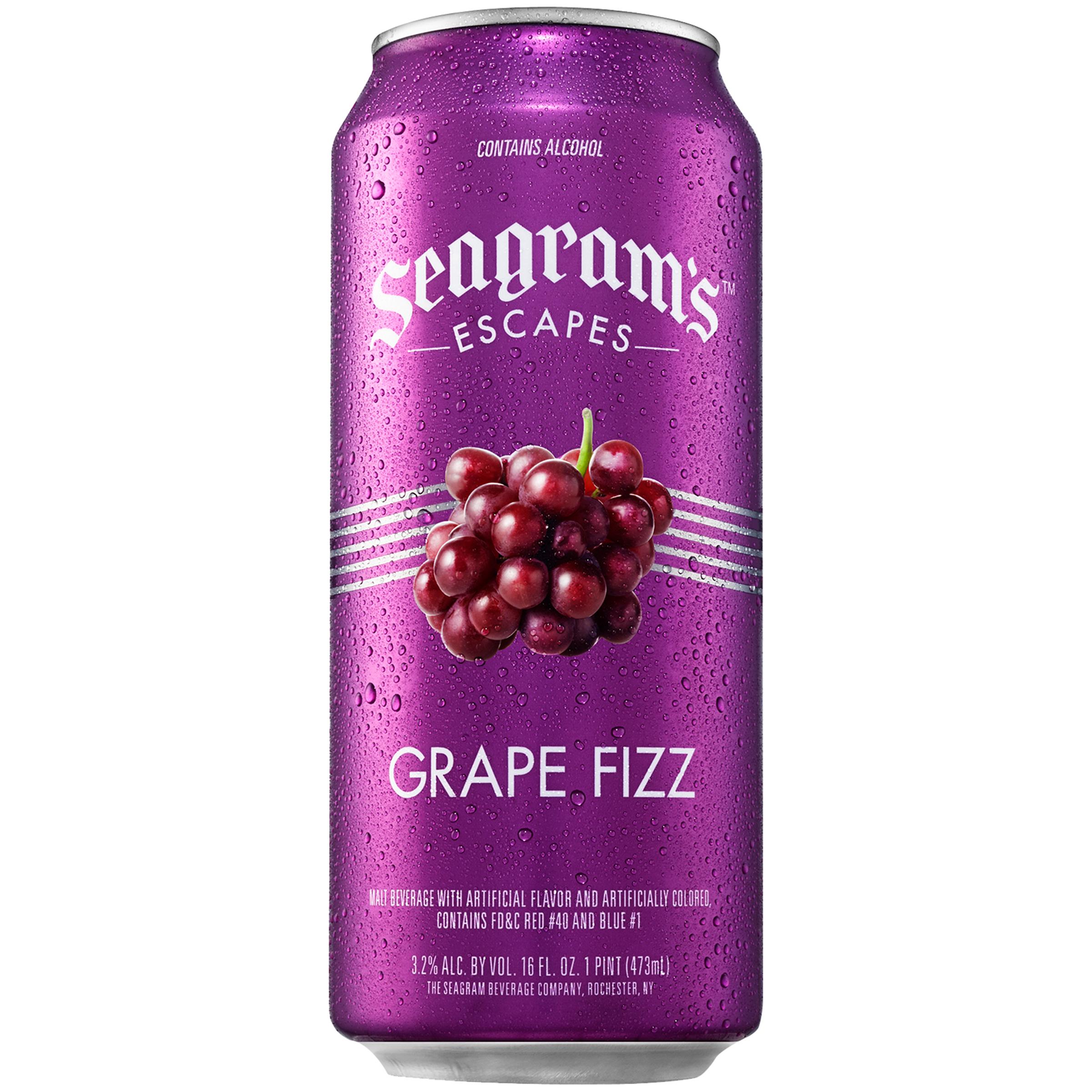 Seagram's Escapes Grape Fizz Cocktail, 16 fl oz