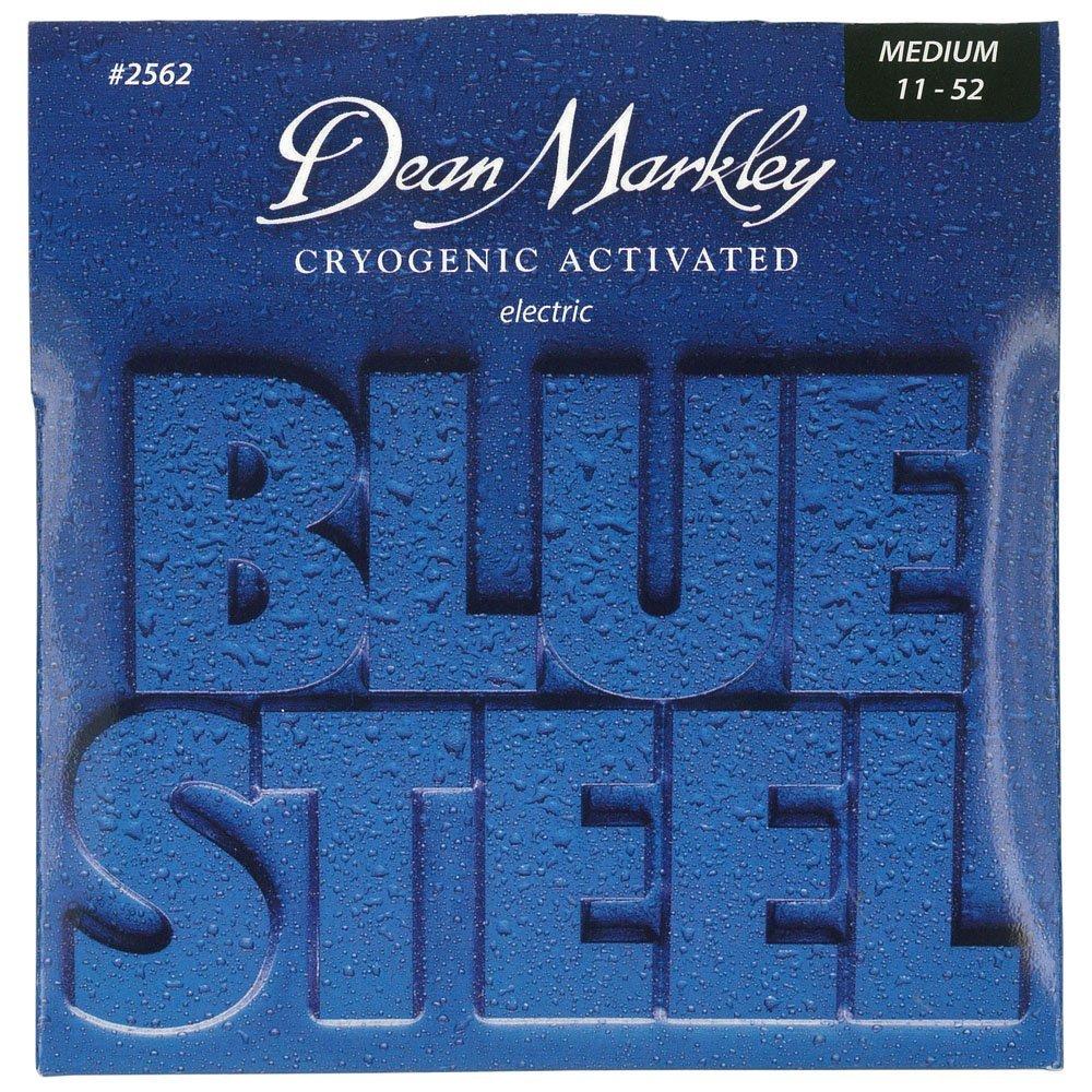 Blue Steel Cryogenic Activated Guitar Strings, 11-52, 2562, Medium, Medium Gauge By Dean... by