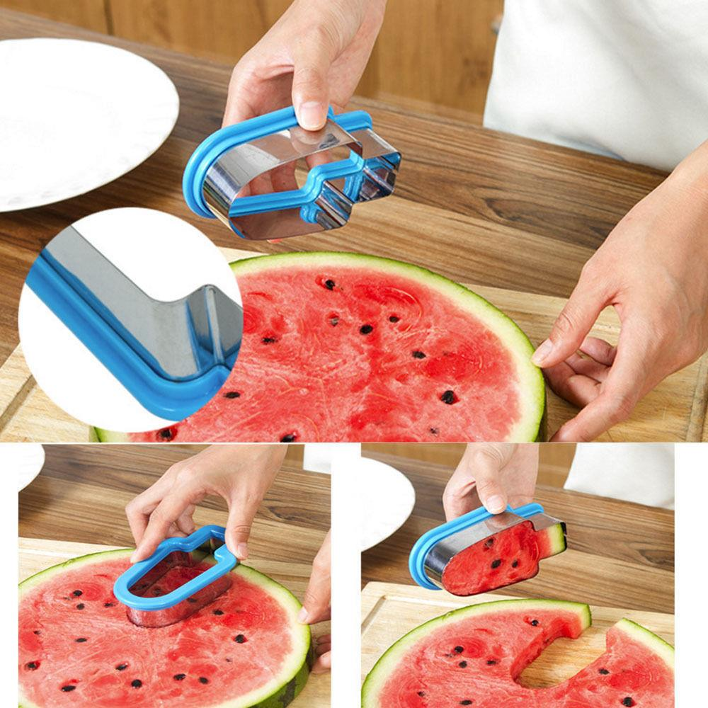 Deago-Watermelon Slicer Popsicle Shaped Cutter Fruit Serving DIY Home Kitchen Tool -Green