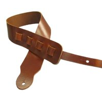 Adjustable Guitar Strap II Full Grain Cowhide Leather - Tan