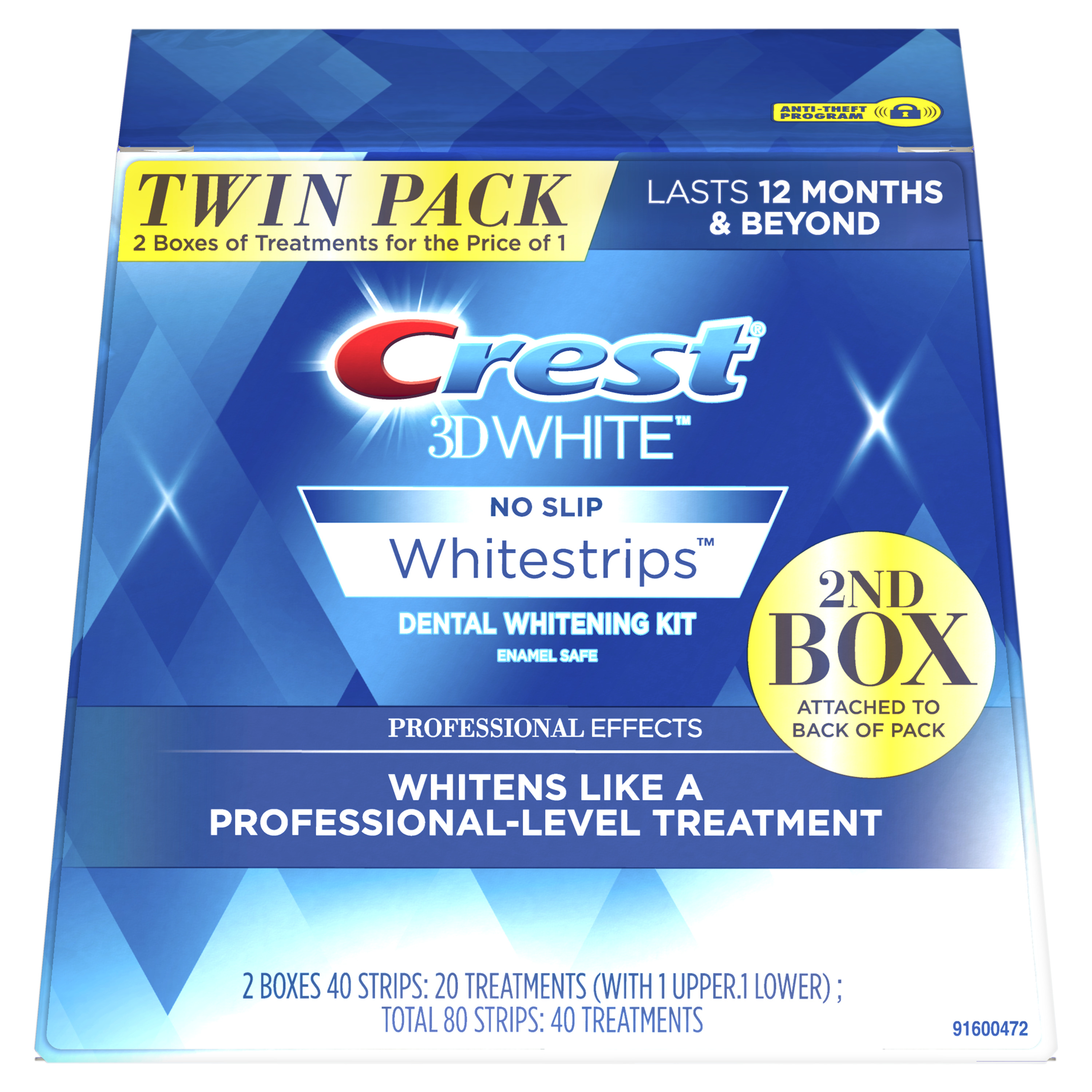 Crest 3D White Whitestrips Professional Effects, 20 Treatment Twin Pack