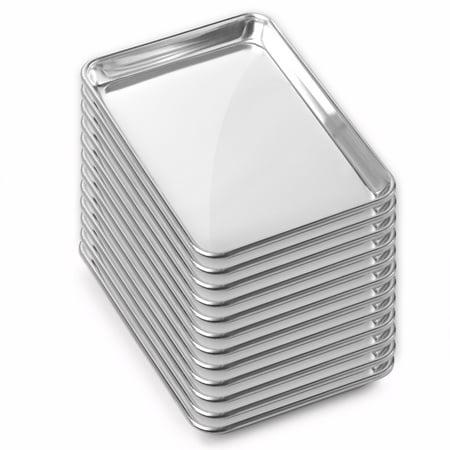 Gridmann Commercial Grade Aluminum Cookie Sheet Baking Tray - Assorted Sizes - 12 Pans