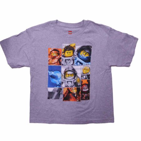 Lego Boys T Short Nexo Shirt Knights Heather Gray Sleeve OwXlPZukiT