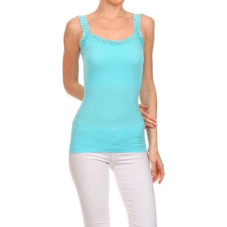Microfiber Cami Set - A Set of 2 Lace trim Cami
