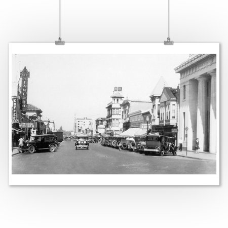 Palo Alto, California - Street View of University Avenue (9x12 Art Print, Wall Decor Travel (Palo Alto Kids)