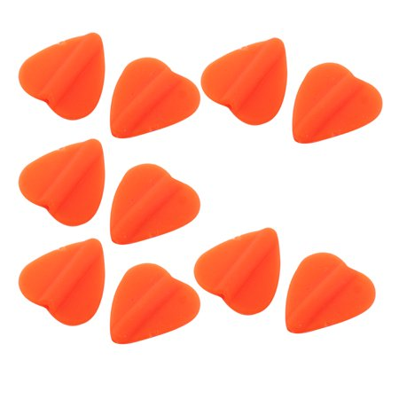 - Heart Shaped Rubber Fisherman Terminal Soft Bobber Stopper Luminous Lure Fishing Beads 10pcs Orange