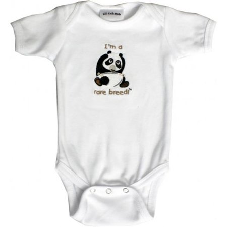 Lil Cub Hub 3WSSOP-612 White Short Sleeve One Piece  - Panda, 6-12 months - image 1 of 1