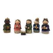 Hanna's Handiworks 6 Piece Christmas Holiday Children's Kids Nativity Set Scene