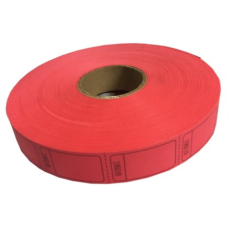 Red Blank Ticket Roll - Party Tickets