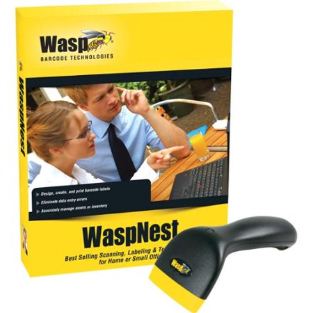 Wasp WaspNest WCS3950 CCD Barcode Scanner, USB
