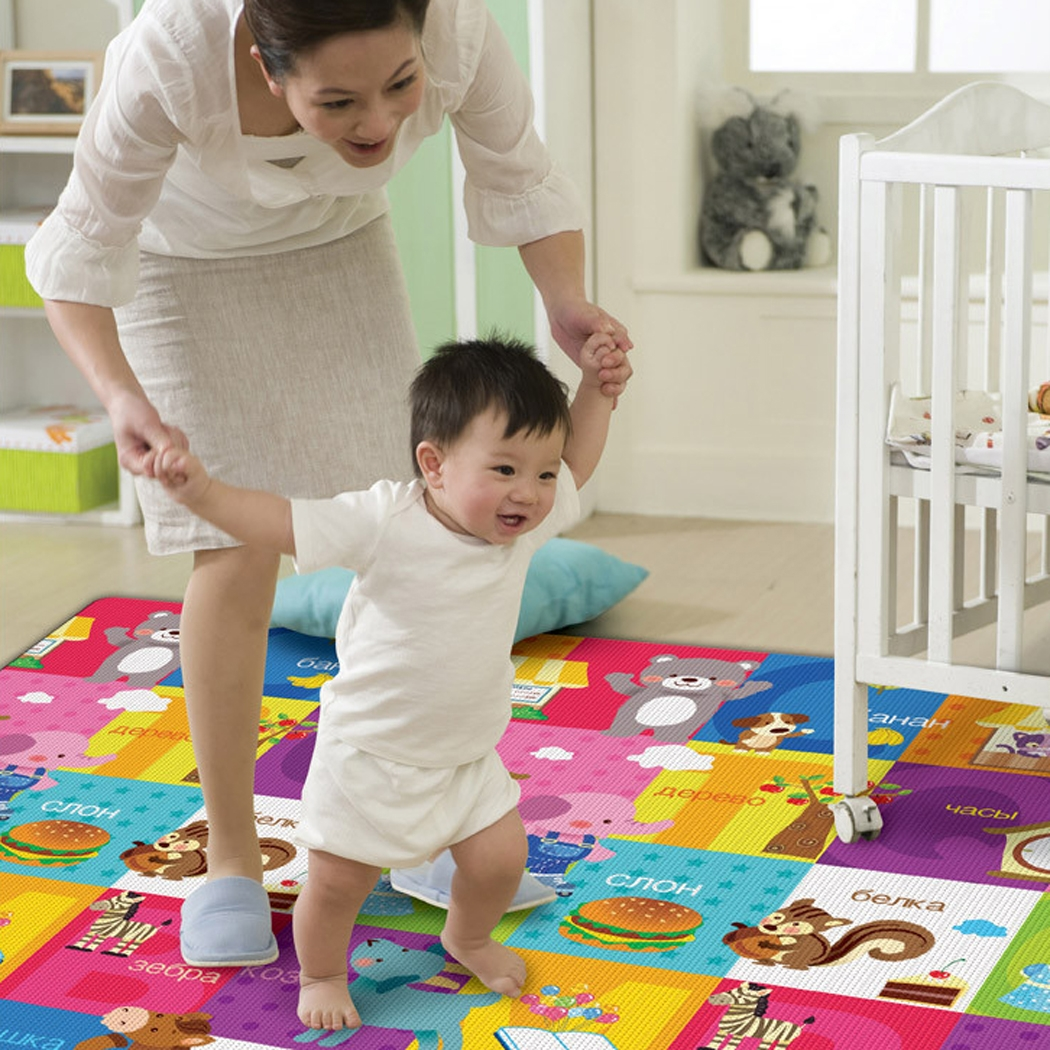 New Baby Kid Crawl Mat Play Carpet Playmat PE Blanket Rug Indoor Outdoor Gyms Gear Play Mat Learning Puzzle