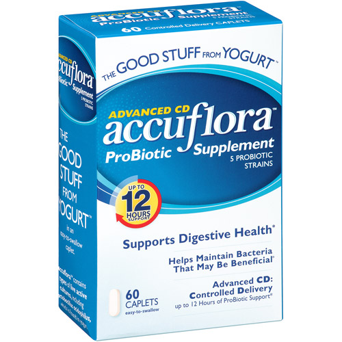 Northwest Natural Products Accuflora Pro-Biotic Acidophilus Value Size Caplets Dietary Supplement - 60 Pk