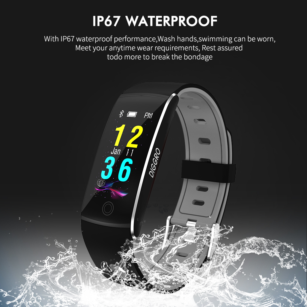 Diggro F10 Smart Bracelet Fitness Tracher Bluetooth