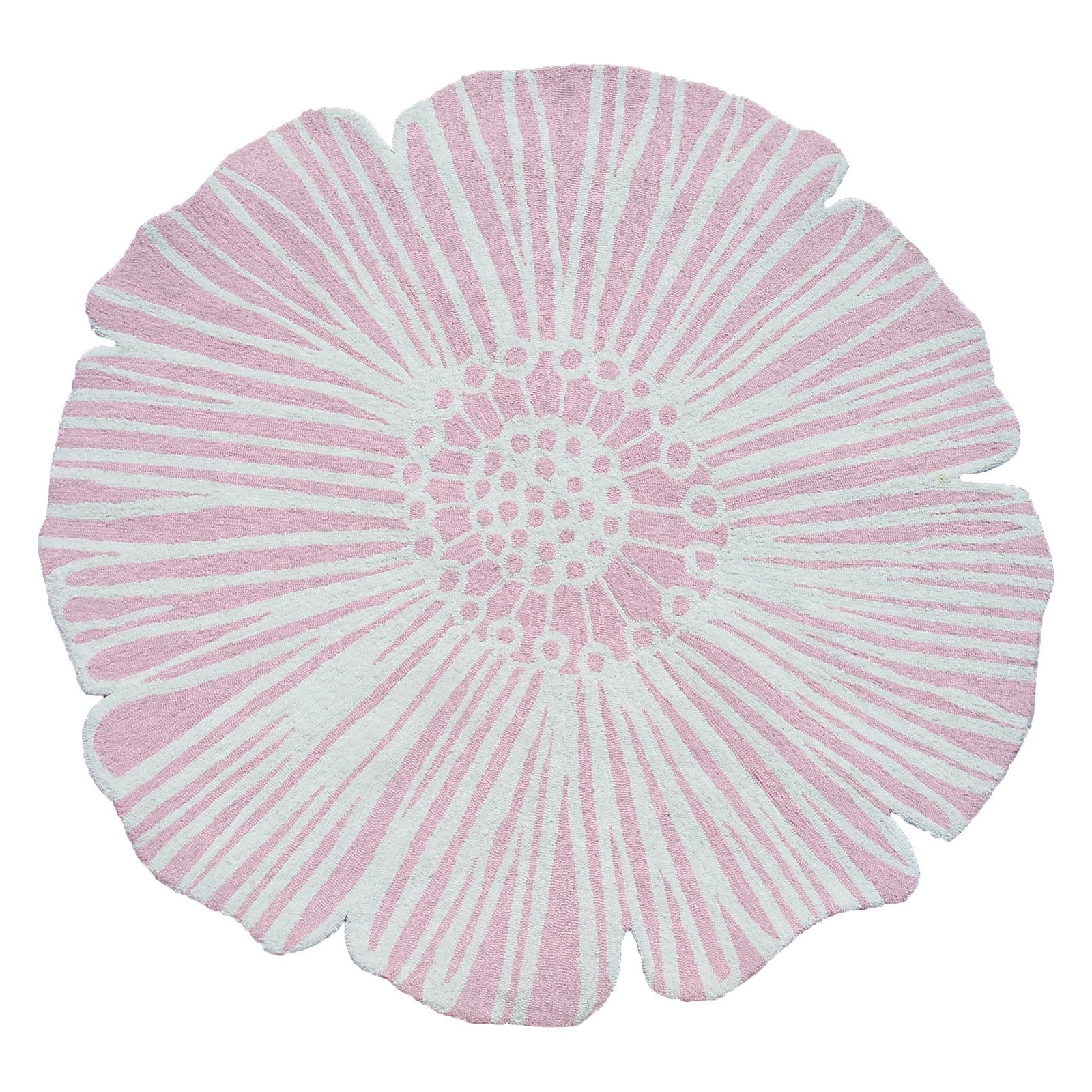 """The Rug Market Round Flower Pink 4'Round"""" Area Rug"""
