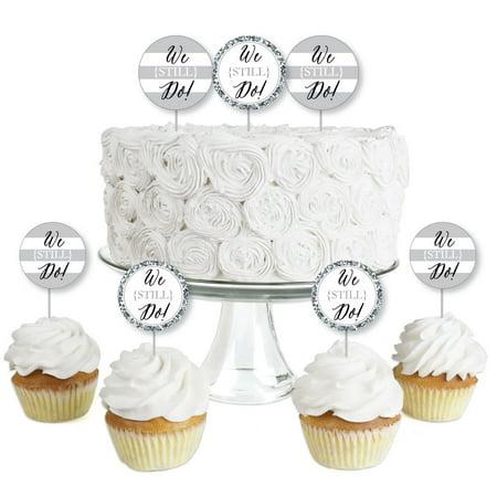 We Still Do Wedding Anniversary Dessert Cupcake Toppers
