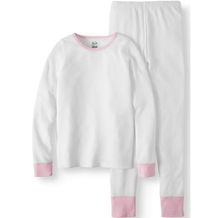 Fruit Of The Loom Girls Soft Waffle Thermal Underwear Set