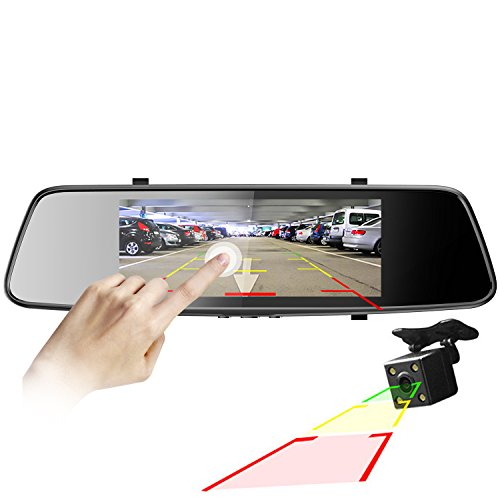 Pruveeo D700 7-Inch Touch Screen Dash Cam Front and Rear Dual Camera