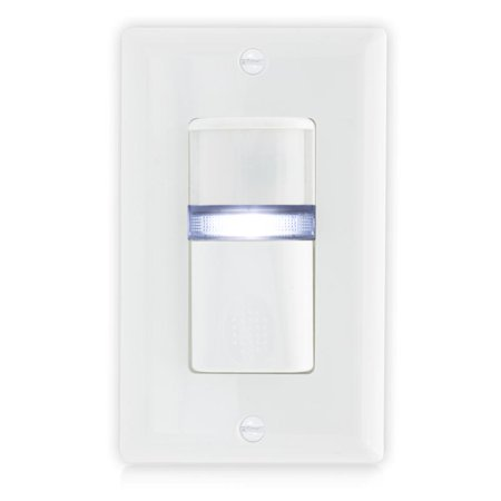 Maxxima Occupancy Sensor Wall Switch w/ LED Night Light, Wall Plate Included