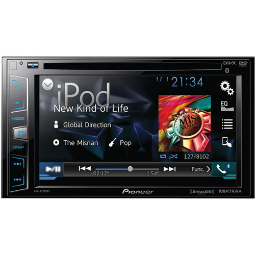 "Pioneer AVH-X2700BS 6.2"" Double-DIN DVD Receiver with Bluetooth, Siri Eyes Free, SiriusXM-Ready, Android Music Support and Pandora Internet Radio"