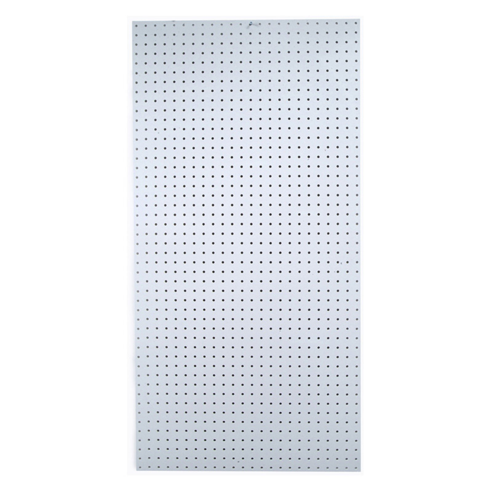 """DuraBoard 48""""W x 96""""H x 1/4""""D White Polypropylene Pegboard with 9/32"""" Hole Size and 1"""" O.C. Hole Spacing"""