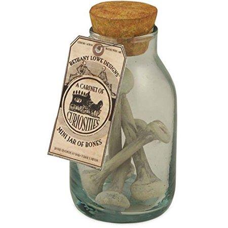 Mini Jar of Bones, Creative idea for a spooky Halloween decoration By Bethany Lowe Designs