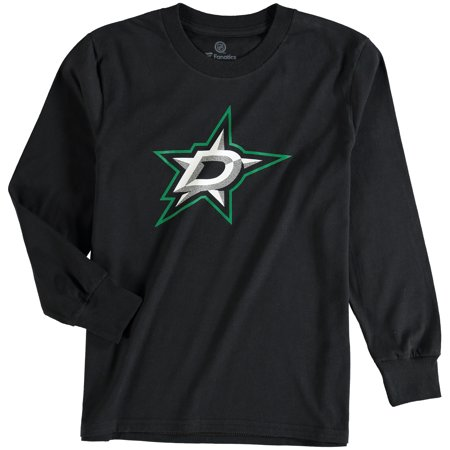 - Dallas Stars Rinkside Youth Primary Logo Long Sleeve T-Shirt - Black