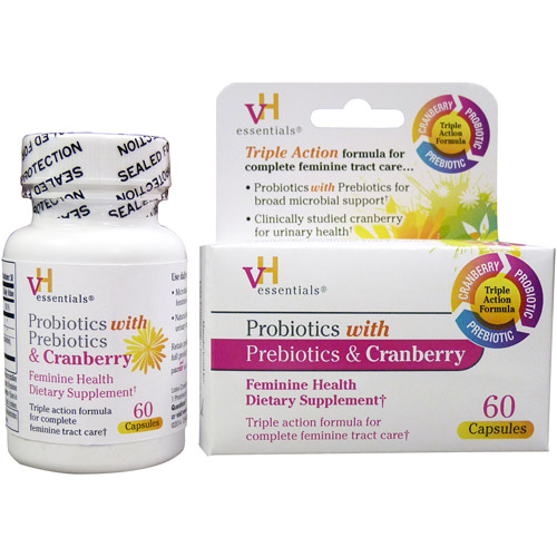 vH essentials Protiotics with Prebiotics & Cranberry Feminine Supplement