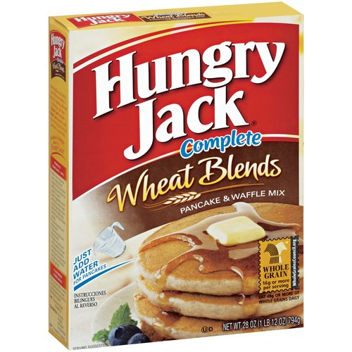 Hungry Jack Complete Wheat Blends Pancake & Waffle Mix, 28 oz