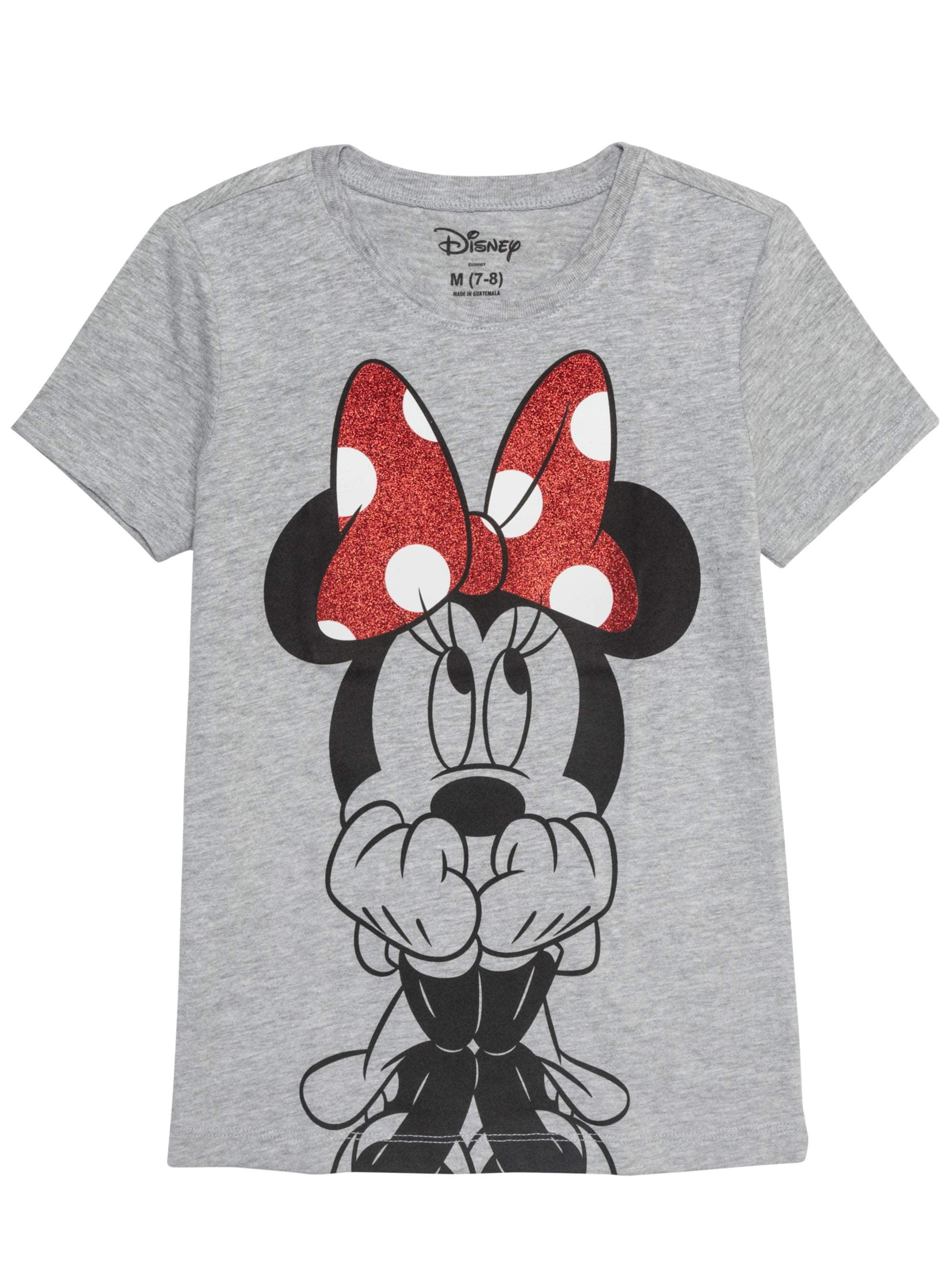10-12 Disney Minnie Mouse Big Girls Legendary T-Shirt Gray