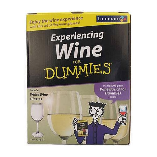 LUMINARC Glasses & White Wine For Dummies Book Gift Set