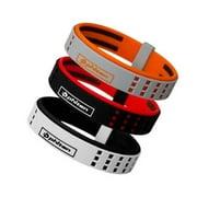 """Phiten Titanium Bracelet Duo Gray/Orange 7.5"""" (19cm)"""