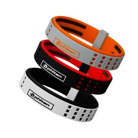 Phiten Titanium Bracelet Duo Black/Red 6.75