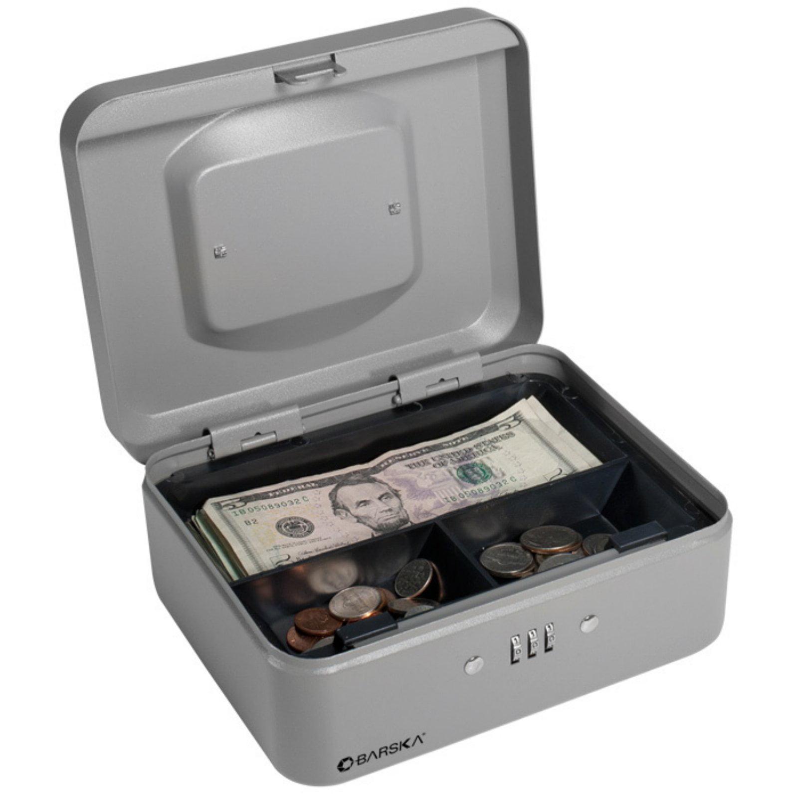 Barska 8 Inch Cash Box with Combination Lock by Barska