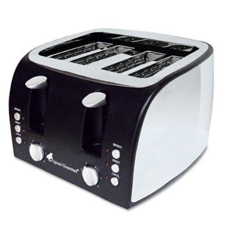 ORIGINAL GOURMET FOOD CO OG8166 4-Slice Multi-Function Toaster with Adjustable Slot Width,