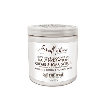 Boy Sugar (SheaMoisture Virgin Coconut Oil Daily Hydration Creamy Sugar Body Scrub, 8 oz )