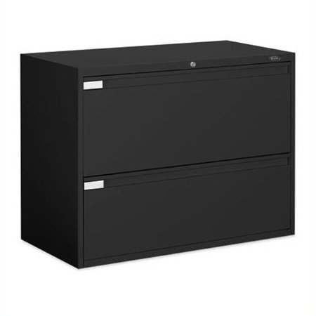 Global Office 9300P 2 Drawer Lateral Metal File Storage Cabinet-Desert Putty