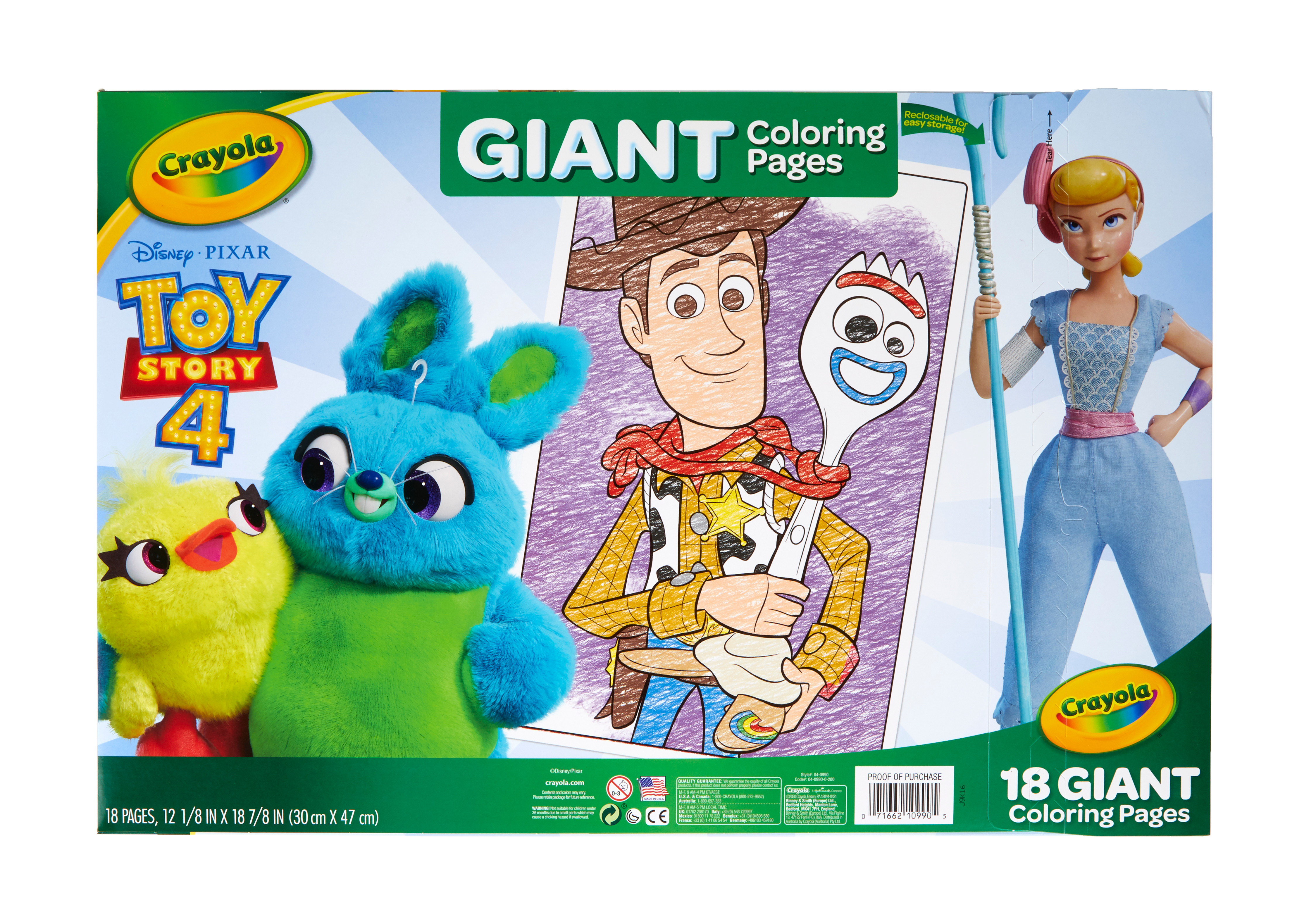 Crayola Toy Story 4 Giant Coloring Pages 18 Pages Child Unisex Walmart Com Walmart Com