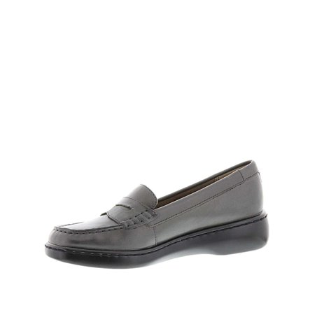 Womens Black Leather (Array Womens Tracy Leather Closed Toe Loafers, Black Leather, Size 9.5 )