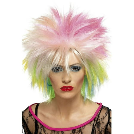 80's Rock Star Wig (80's Punk Rock Adult Costume Spiky)