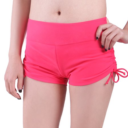024f994fce6 HDE Women Swim Brief with Ties- Mini Boy Short Bikini Bottoms Swimsuit  Separates (Watermelon Red, XL)