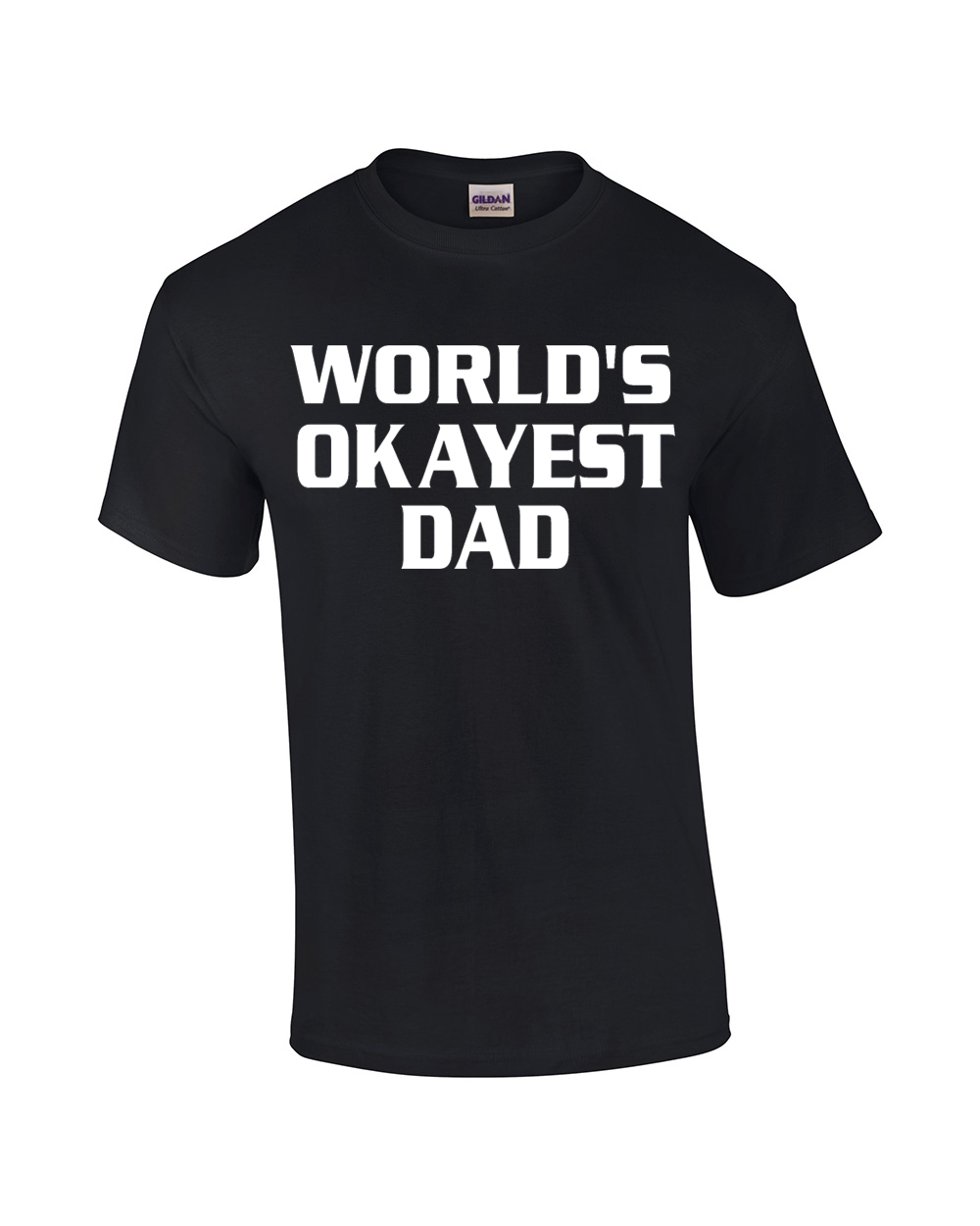 Funny T-Shirt World's Okayest Dad